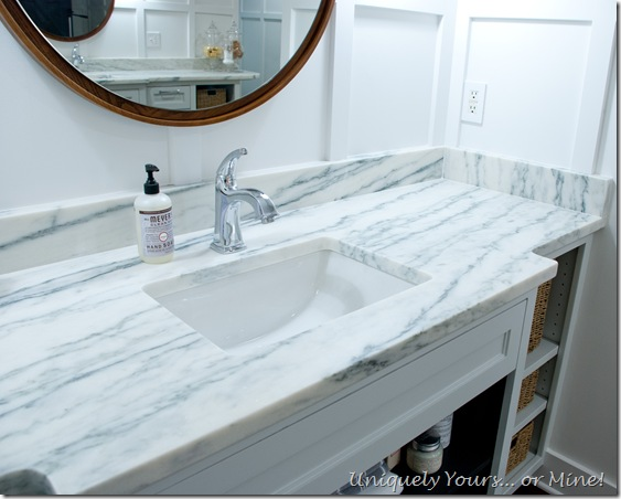 Honed Mountain White Danby marble from Vermont