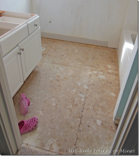 Bathroom tile removal