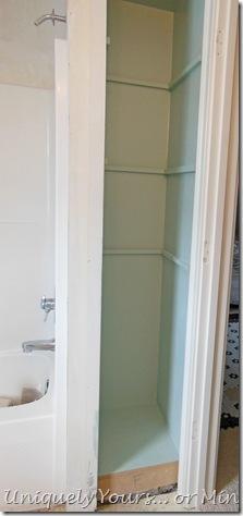 Palladian Blue painted linen nook