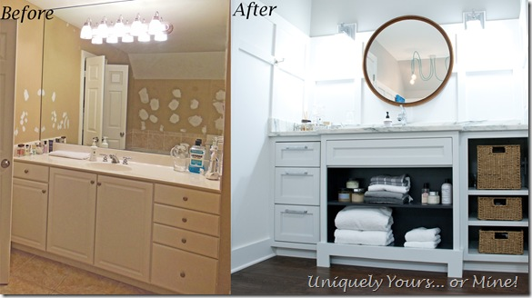 Custom vanity in master bathroom renovation
