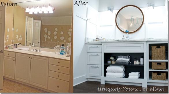 Custom vanity in master bathroom renovation