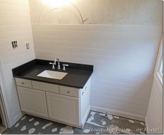 honed black granite vanity top