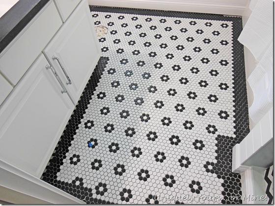 Black and white traditional bathroom renovation
