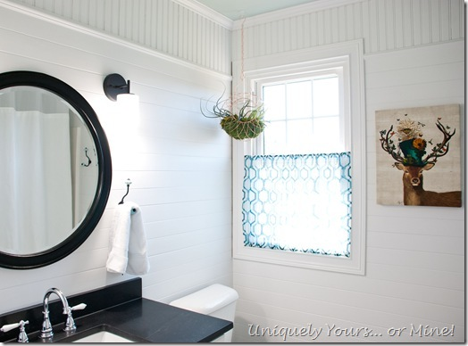 DIY traditional black and white bathroom renovation