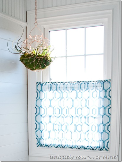 Privacy sheer curtain for the bathroom