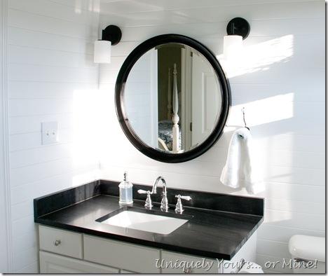 DIY Black granite vanity
