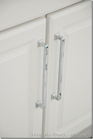 Polished chrome vanity pulls