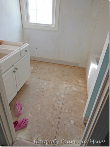Bathroom mid renovation