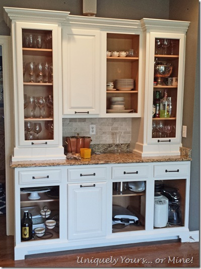 Painting and embellishing kitchen cabinets White Dove