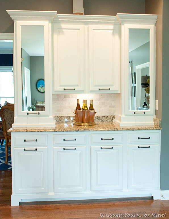 Painted butler's pantry cabinets