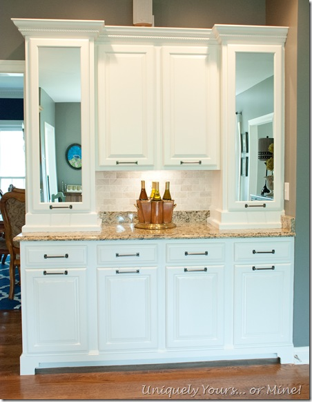 Painted and remodeled kitchen butler's pantry cabinets