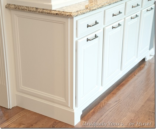 Adding molding to cabinets