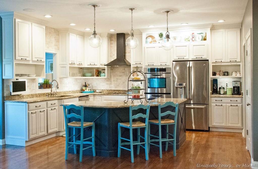 Adding molding to kitchen island for Updated kitchen remodels