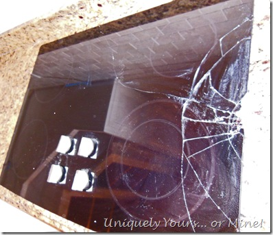 Broken glass stovetop