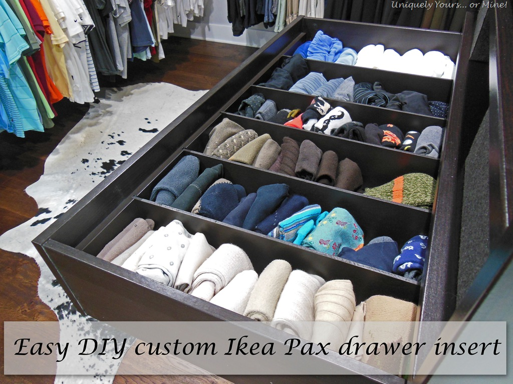 DIY Custom Built Organizer for our Ikea Pax Wardrobe Uniquely