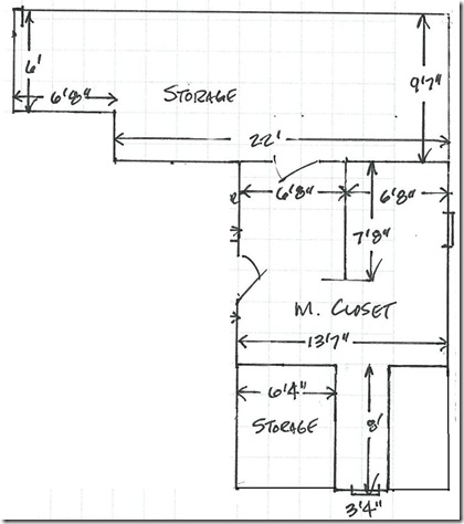 Original closet layout