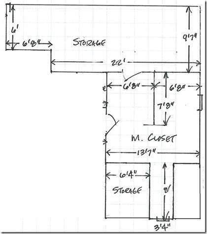 Original closet layout