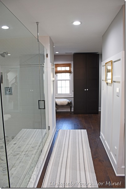 Renovated closet into dressing room off of new master bath
