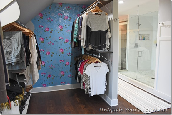 Renovated closet turned dressing room
