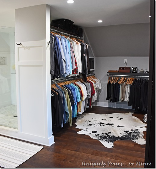 Renovated closet turned dressing room