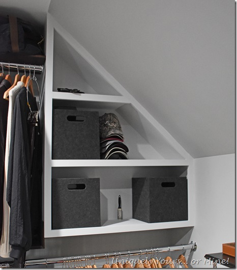 Custom cabinet for renovated closet turned dressing room