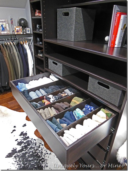 Custom made drawer dividers for PAX wardrobe drawers